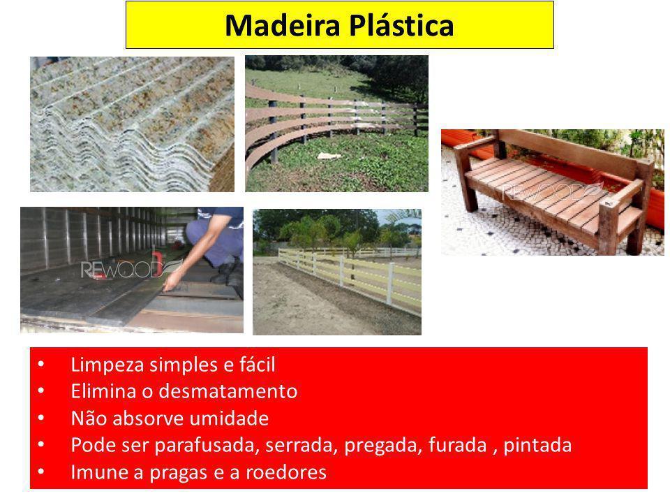 Madeira Plástica Limpeza simples e fácil Elimina o desmatamento