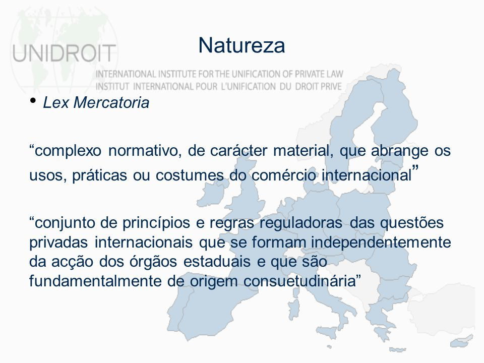 Natureza Lex Mercatoria