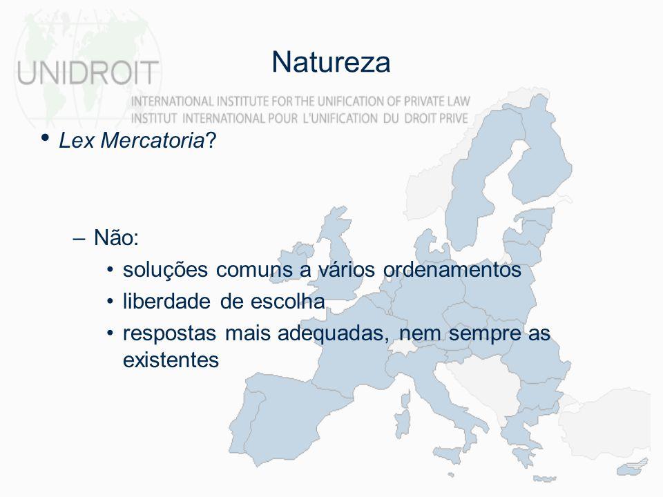 Natureza Lex Mercatoria Não: soluções comuns a vários ordenamentos