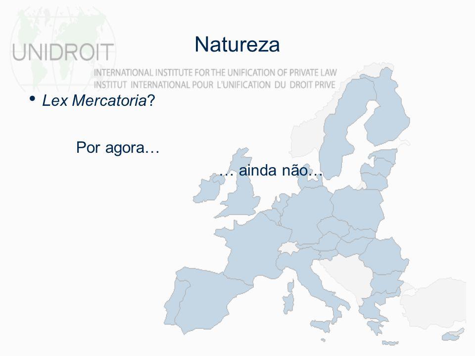 Natureza Lex Mercatoria Por agora… … ainda não…