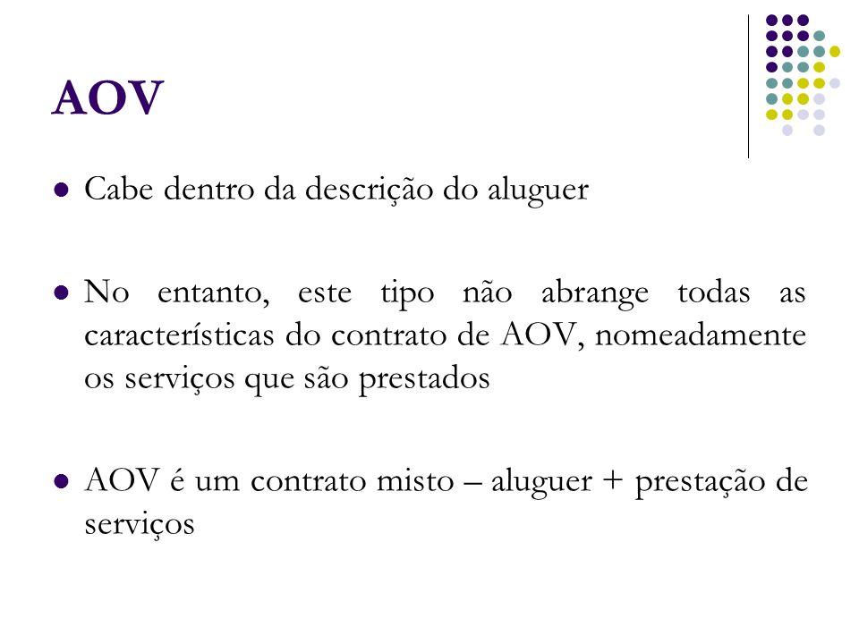 AOV Cabe dentro da descrição do aluguer