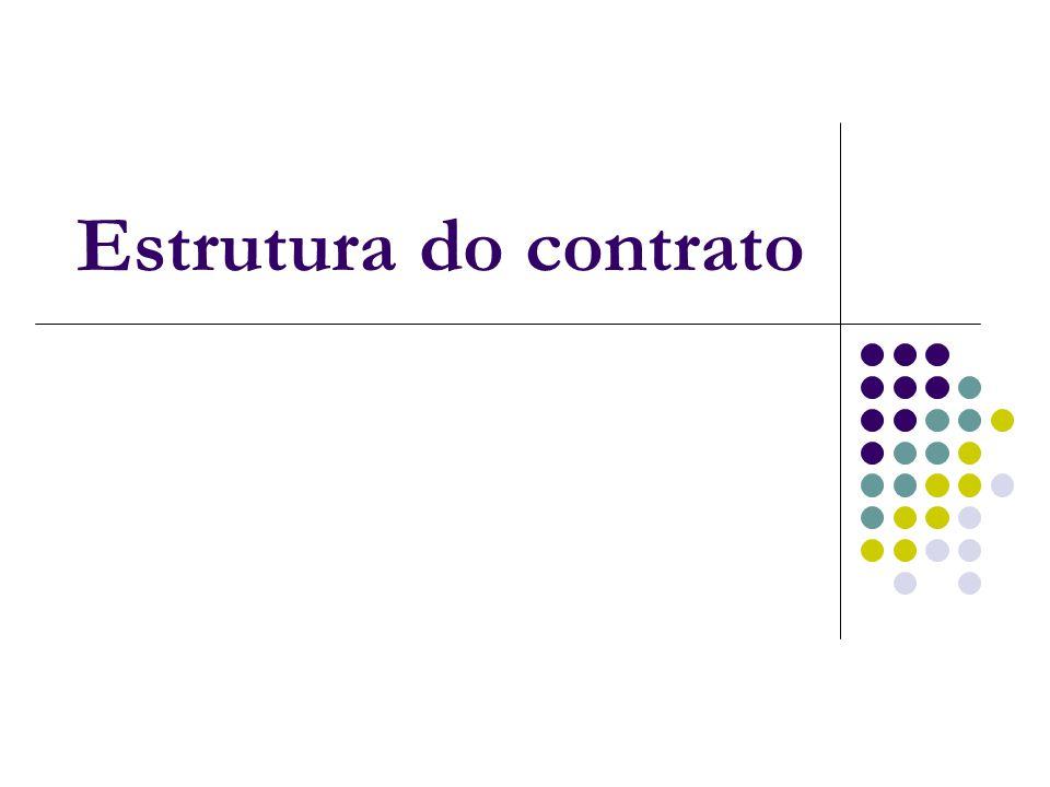 Estrutura do contrato