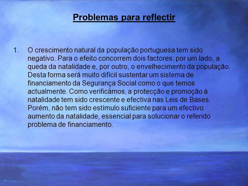 Problemas para reflectir