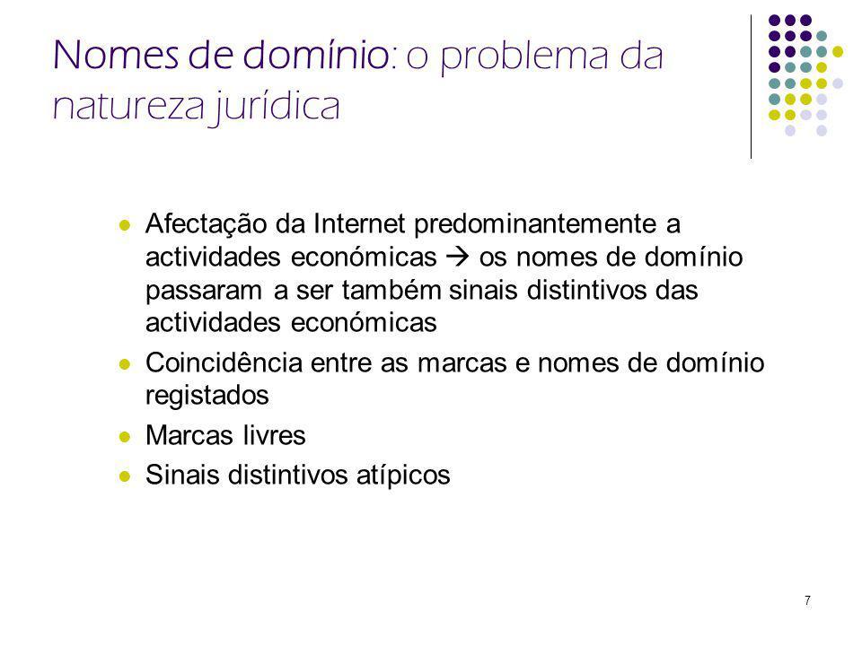 Nomes de domínio: o problema da natureza jurídica