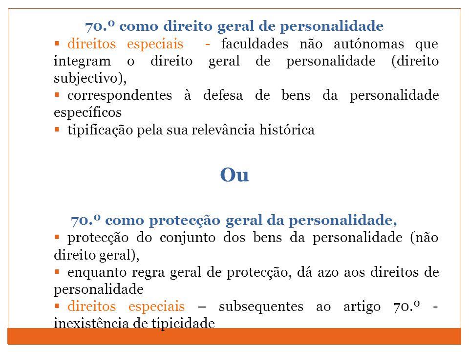 Ou 70.º como direito geral de personalidade
