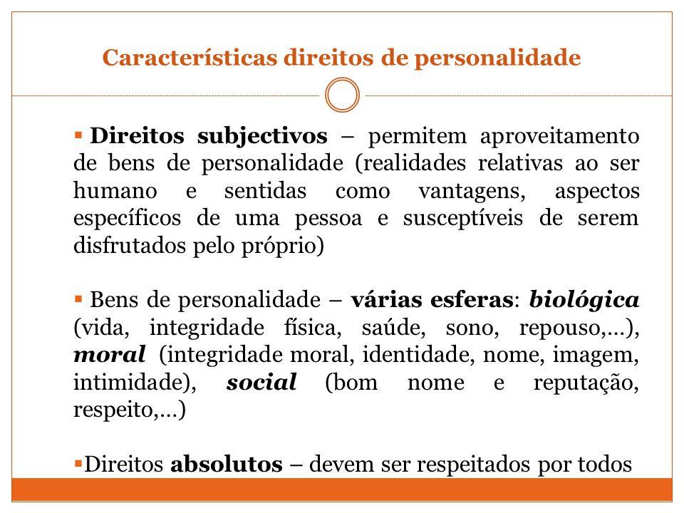 Características direitos de personalidade