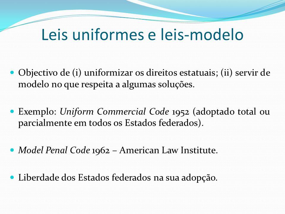Leis uniformes e leis-modelo