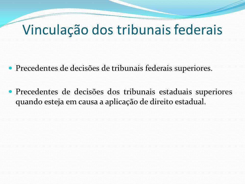 Vinculação dos tribunais federais