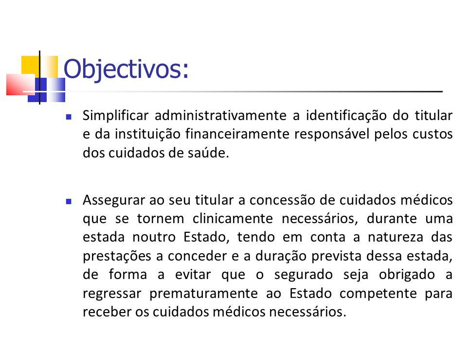 Objectivos: