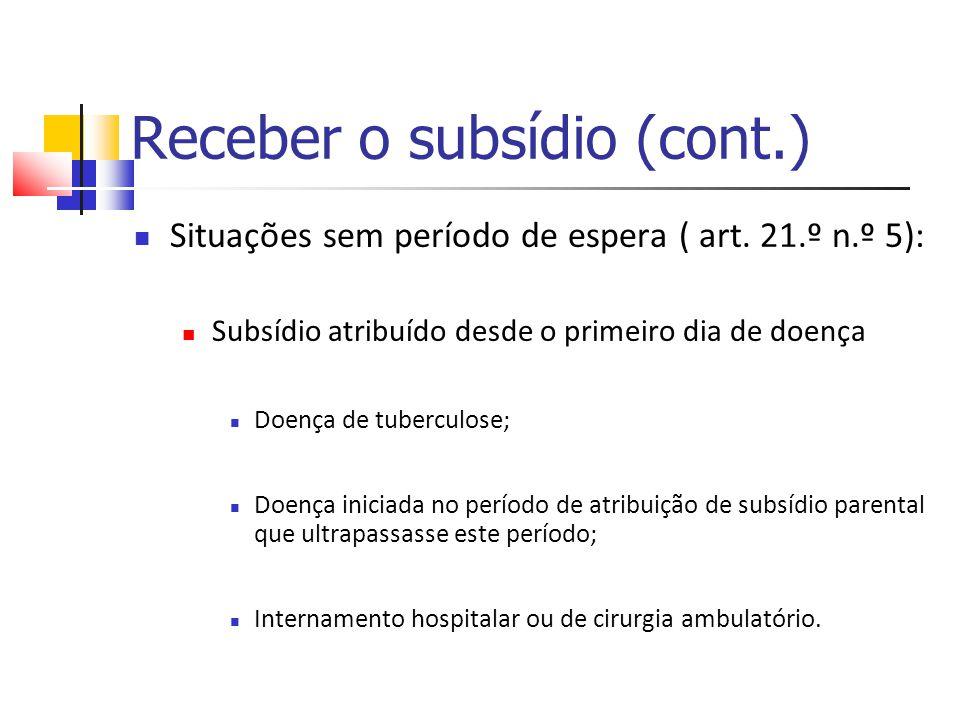 Receber o subsídio (cont.)