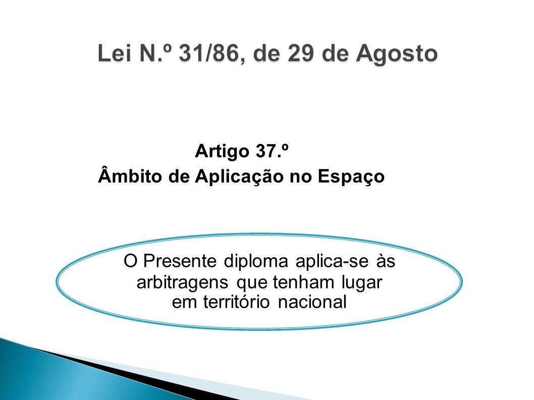Artigo 37.º Âmbito de Aplicação no Espaço