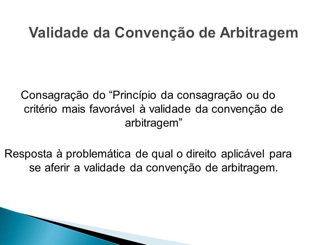 Validade da Convenção de Arbitragem