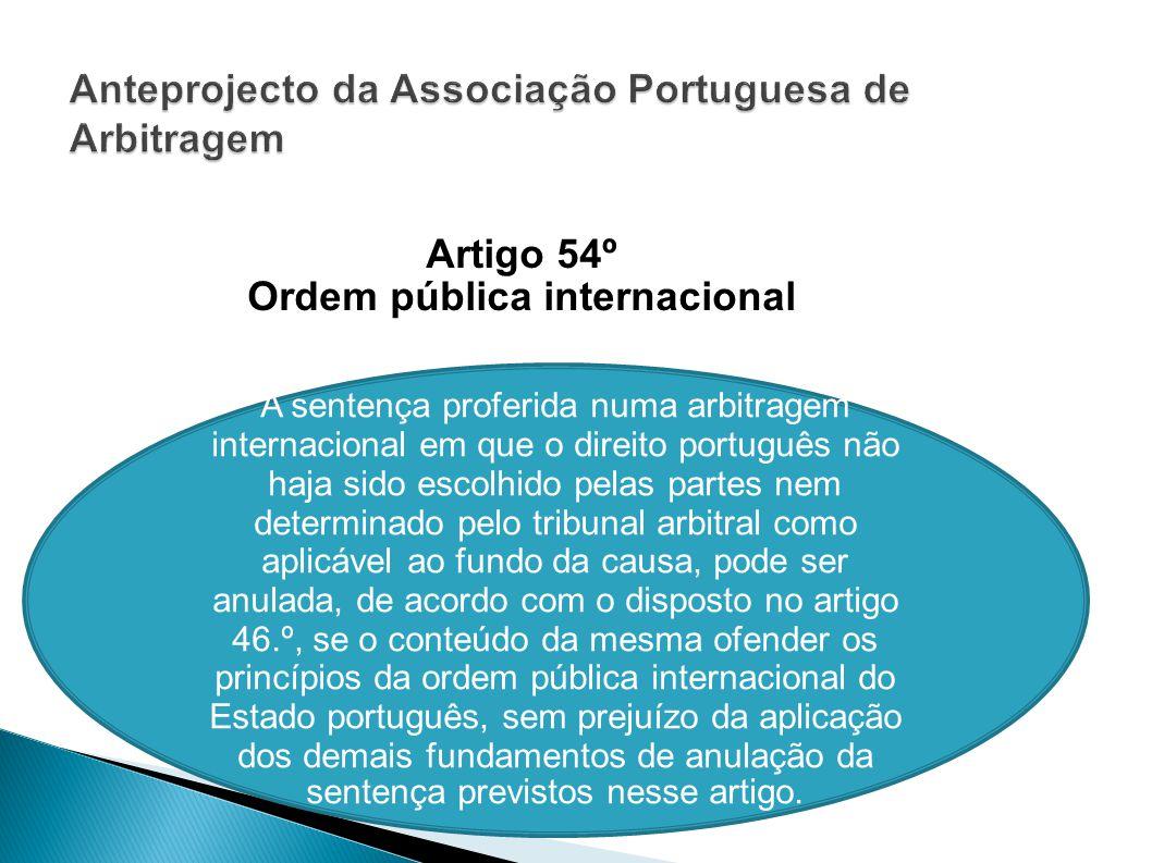 Anteprojecto da Associação Portuguesa de Arbitragem