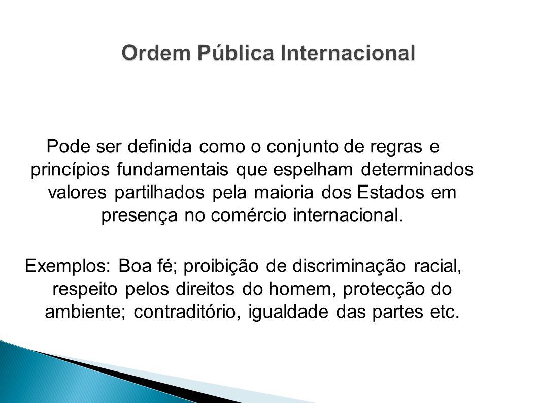 Ordem Pública Internacional