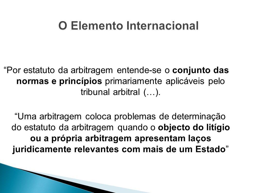 O Elemento Internacional