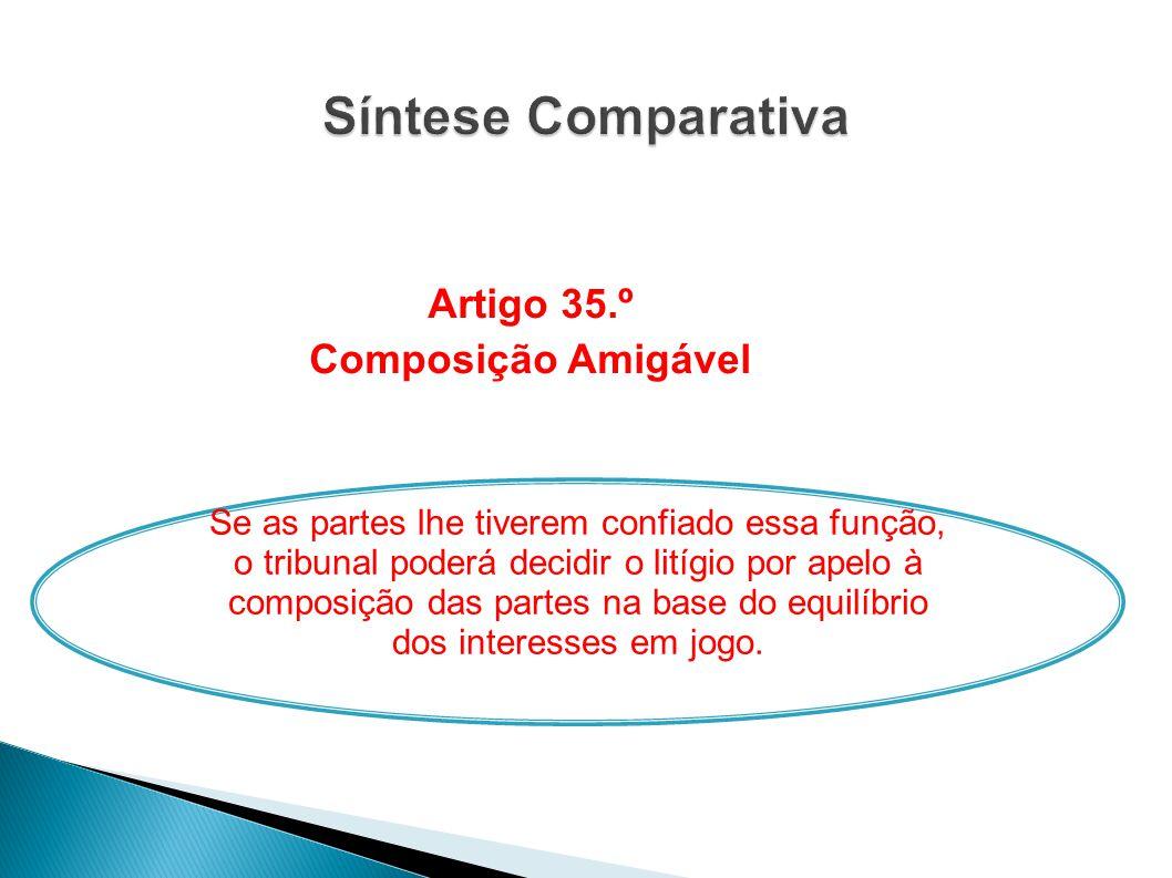 Artigo 35.º Composição Amigável