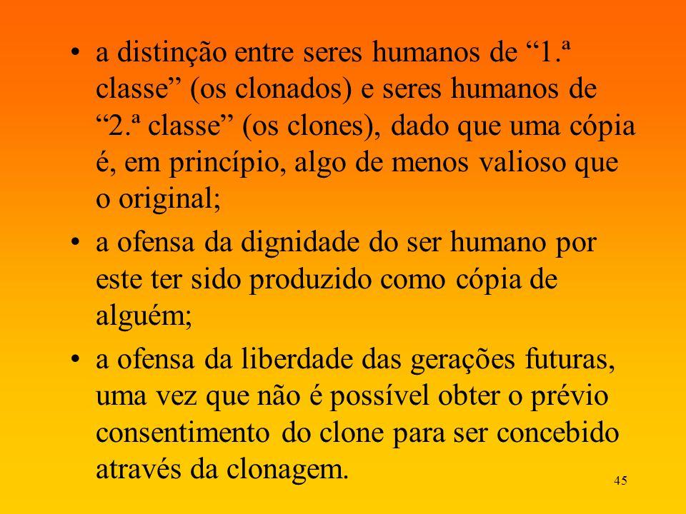 a distinção entre seres humanos de 1