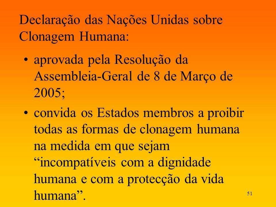 Declaração das Nações Unidas sobre Clonagem Humana: