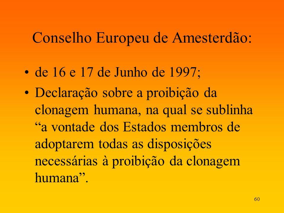 Conselho Europeu de Amesterdão:
