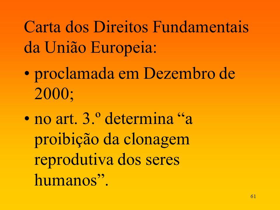 Carta dos Direitos Fundamentais da União Europeia: