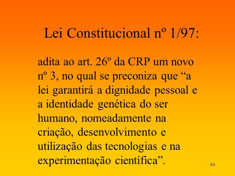 Lei Constitucional nº 1/97: