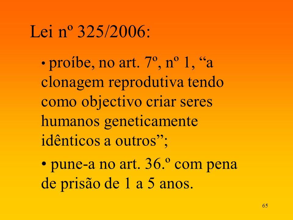 Lei nº 325/2006: pune-a no art. 36.º com pena de prisão de 1 a 5 anos.