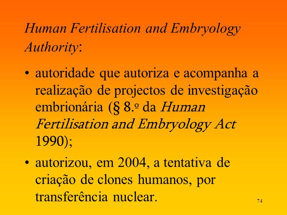 Human Fertilisation and Embryology Authority: