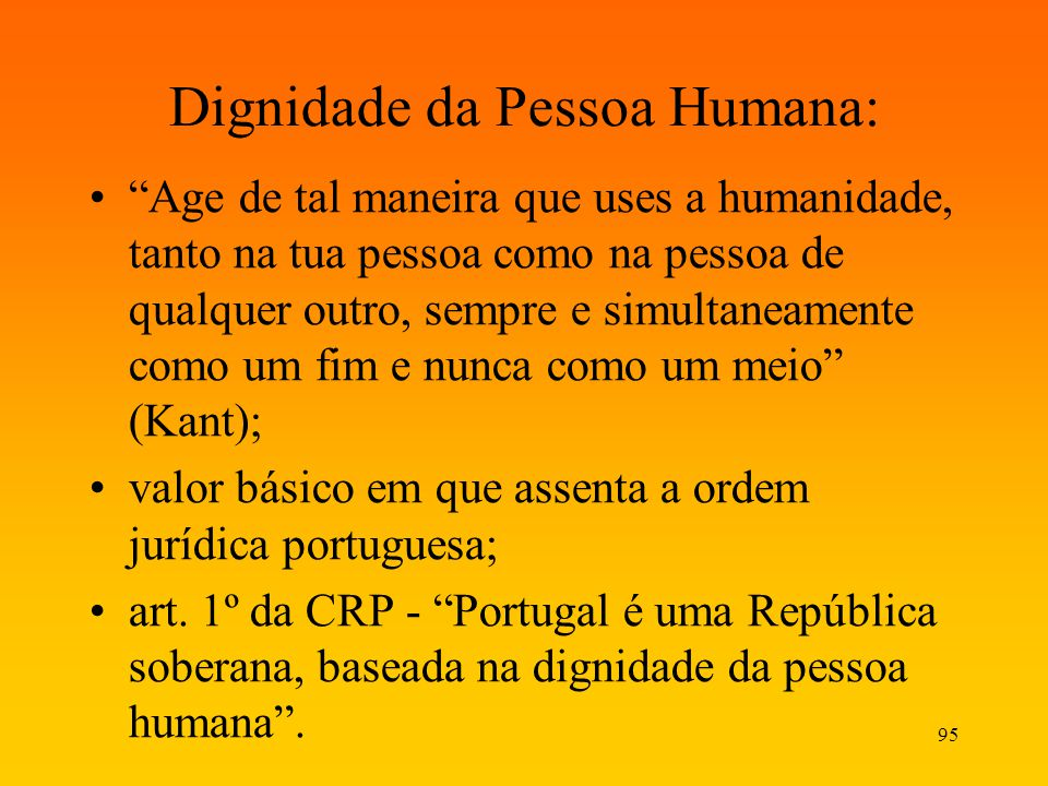 Dignidade da Pessoa Humana: