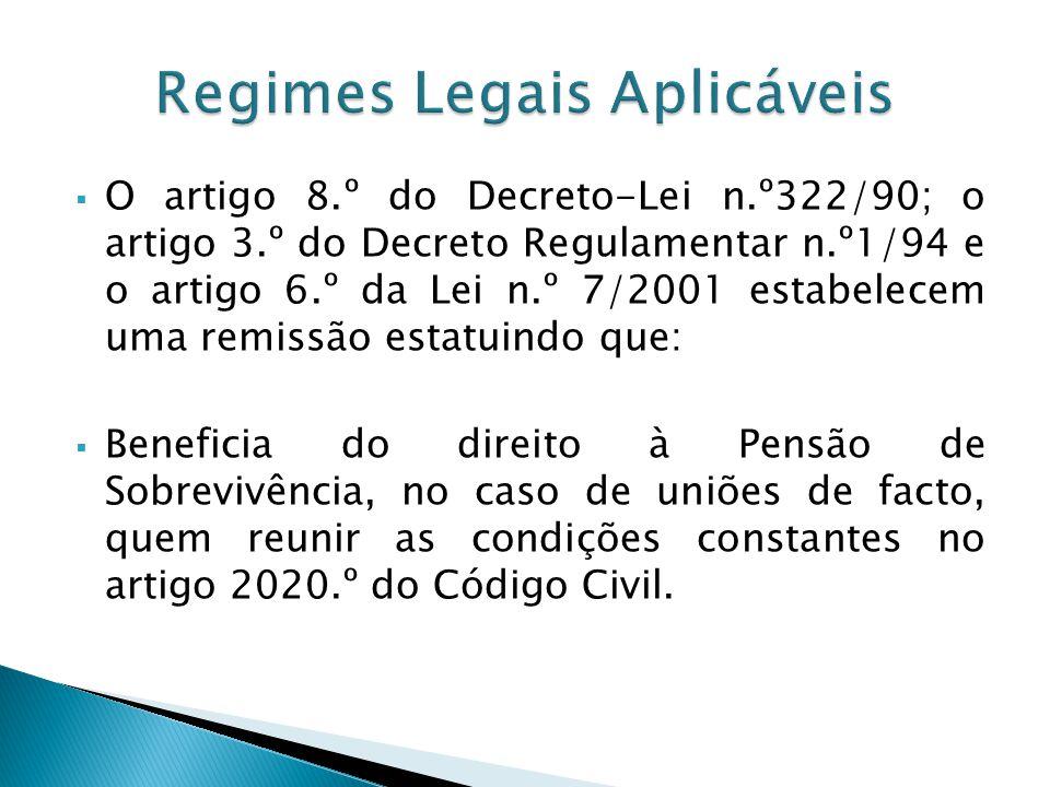 Regimes Legais Aplicáveis