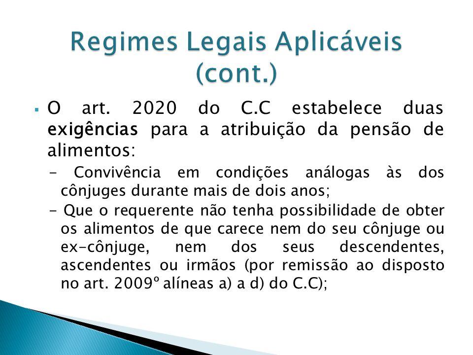 Regimes Legais Aplicáveis (cont.)