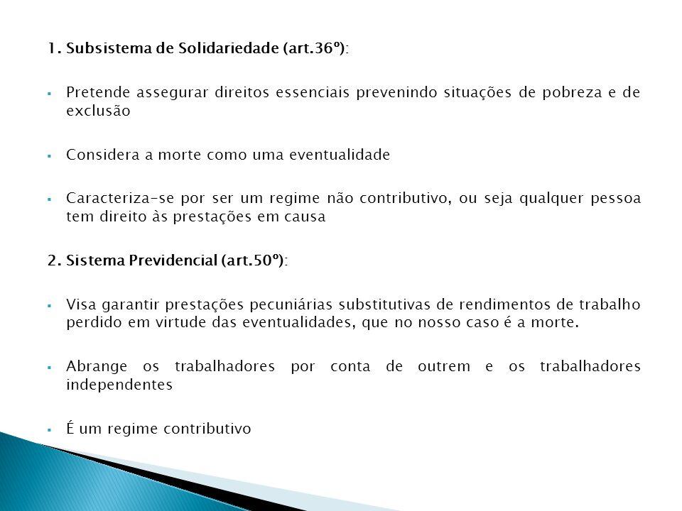 1. Subsistema de Solidariedade (art.36º):