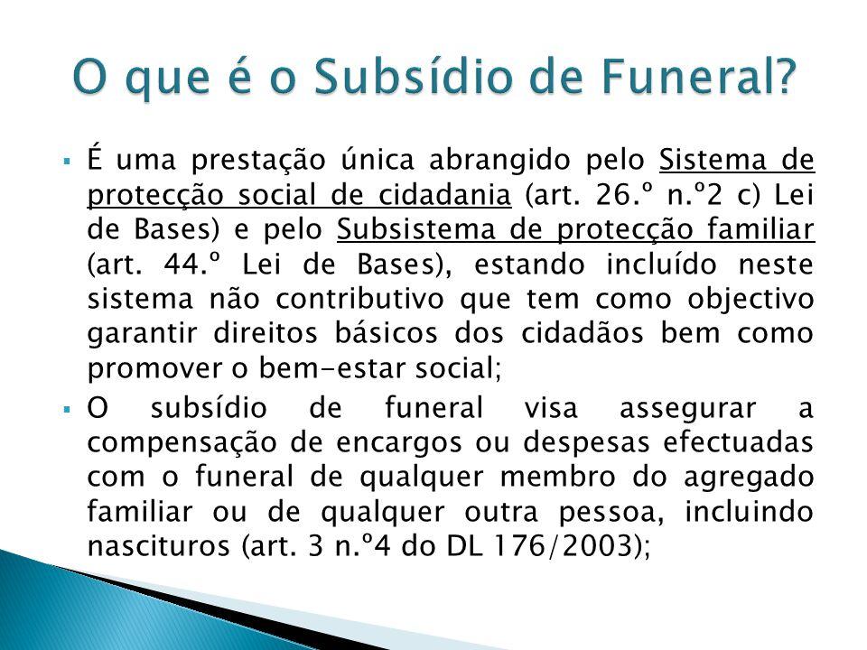 O que é o Subsídio de Funeral