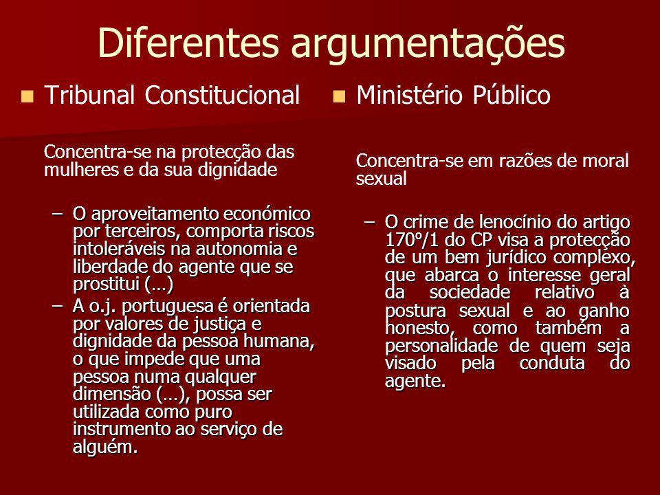 Diferentes argumentações