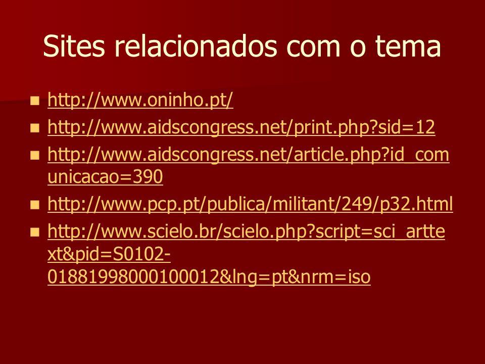 Sites relacionados com o tema