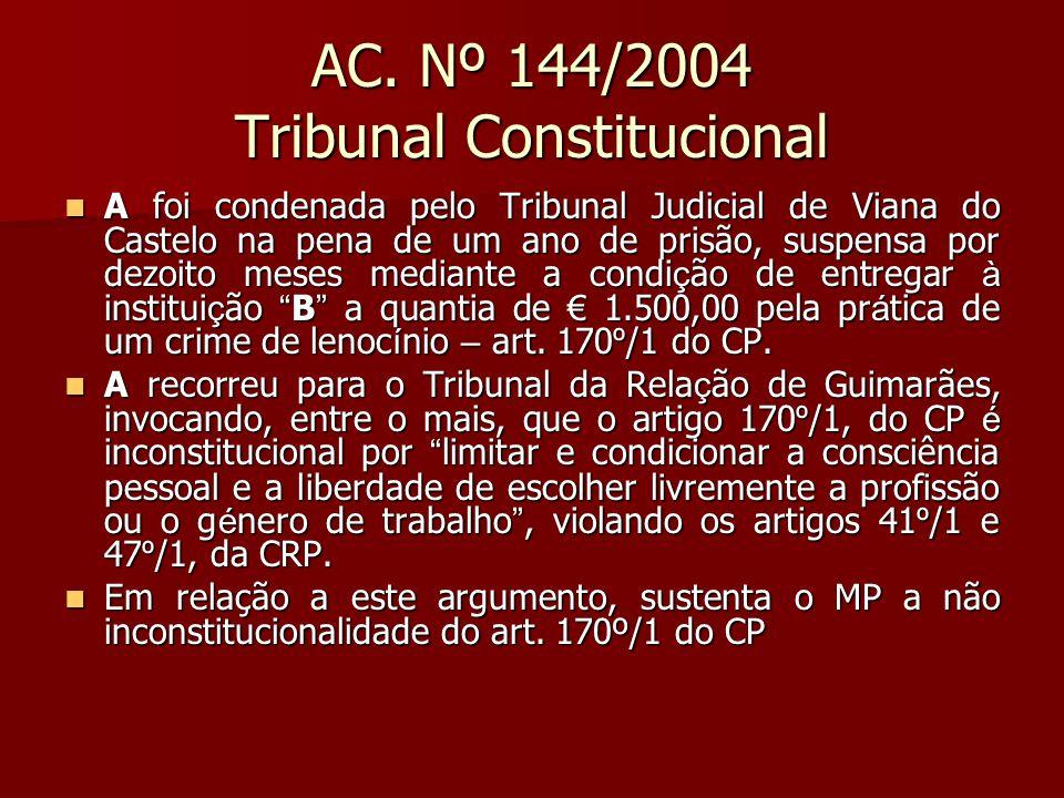 AC. Nº 144/2004 Tribunal Constitucional