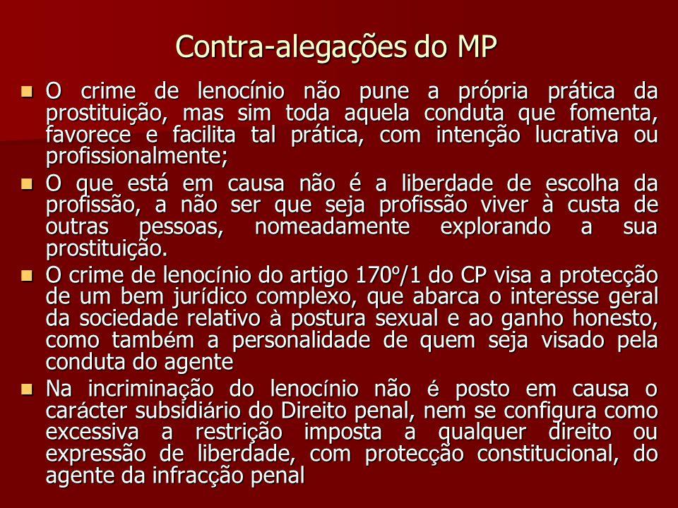 Contra-alegações do MP