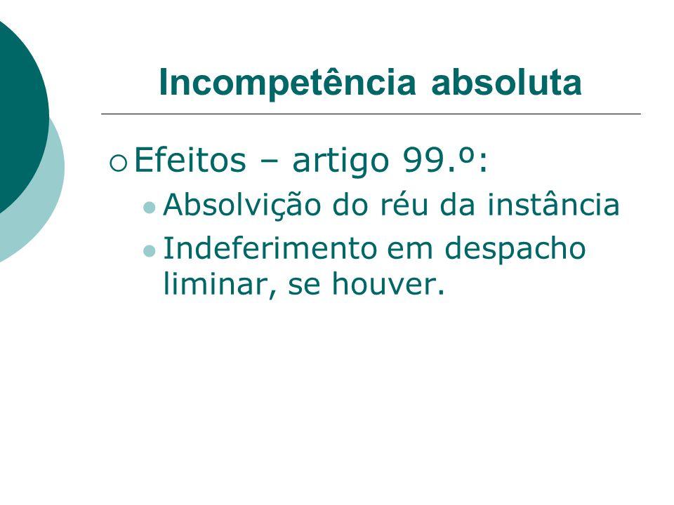 Incompetência absoluta