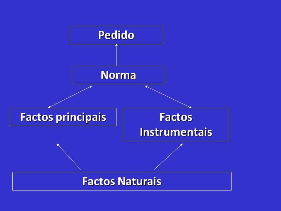 Pedido Norma Factos principais Factos Instrumentais Factos Naturais
