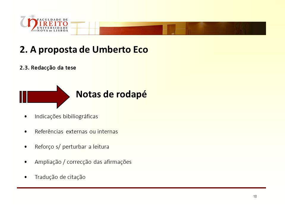 2. A proposta de Umberto Eco