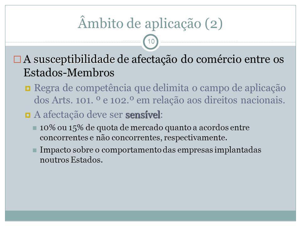 Âmbito de aplicação (2)