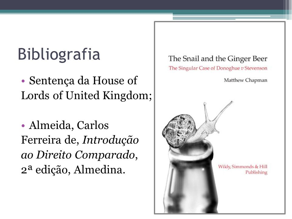 Bibliografia Sentença da House of Lords of United Kingdom;