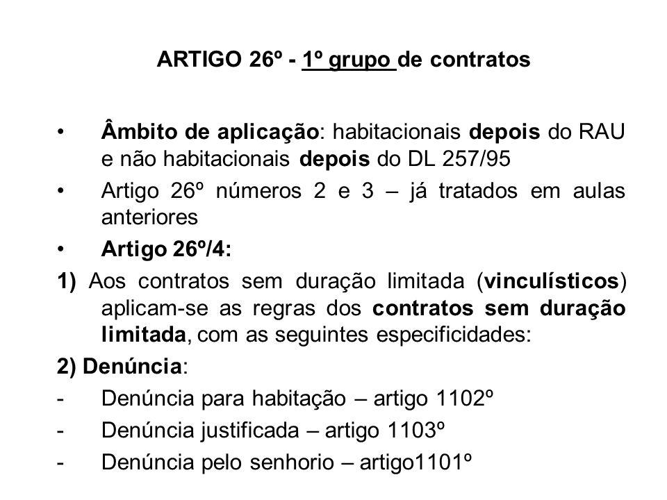 ARTIGO 26º - 1º grupo de contratos