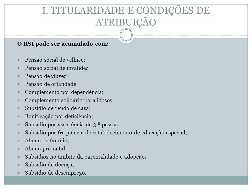 I. TITULARIDADE E CONDIÇÕES DE ATRIBUIÇÃO