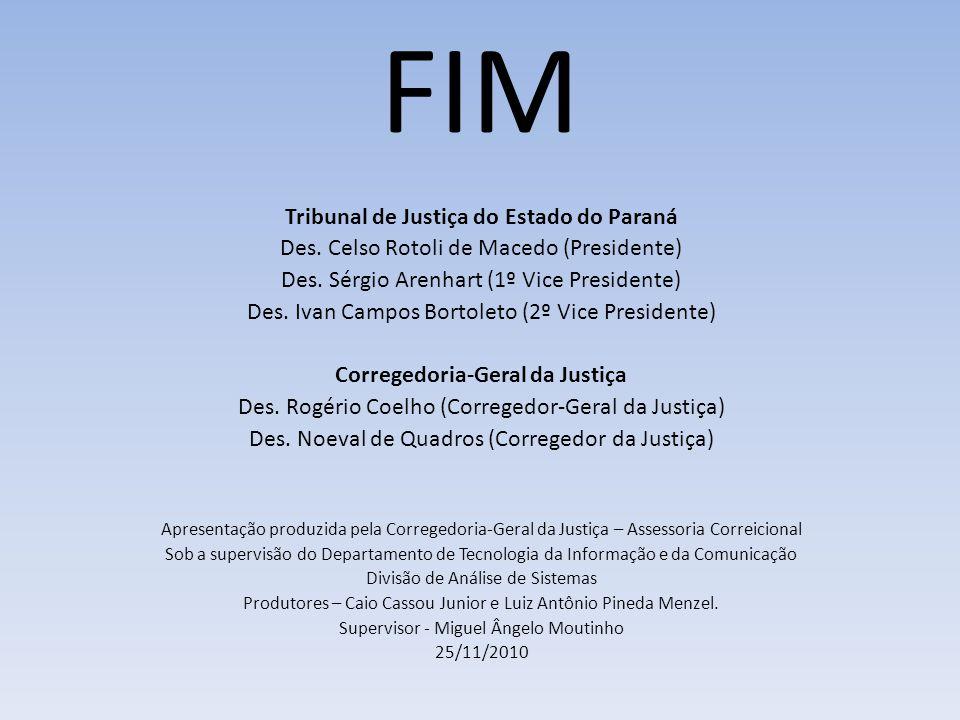 Tribunal de Justiça do Estado do Paraná Corregedoria-Geral da Justiça