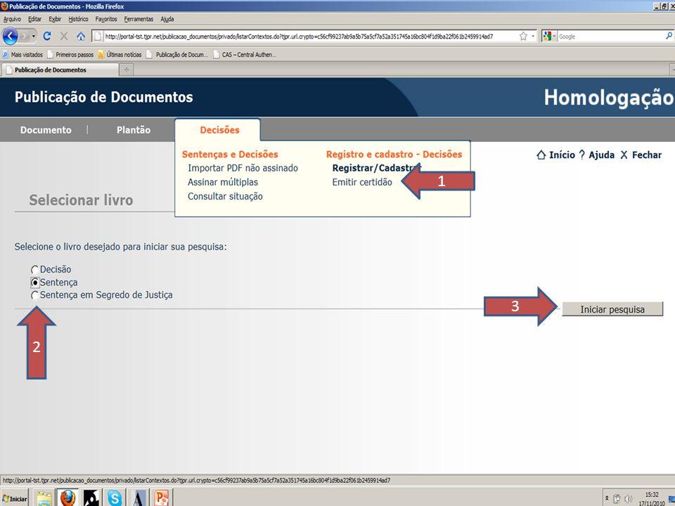 1 3. 2. SLIDE 57. O próximo passo é emitir a certidão do registro que deverá ser inserida nos processos físicos.