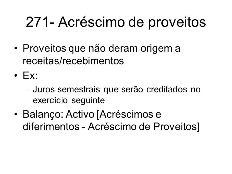 271- Acréscimo de proveitos