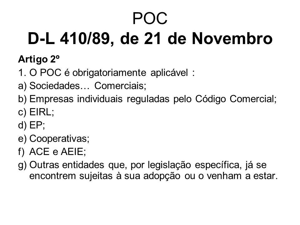 POC D-L 410/89, de 21 de Novembro Artigo 2º