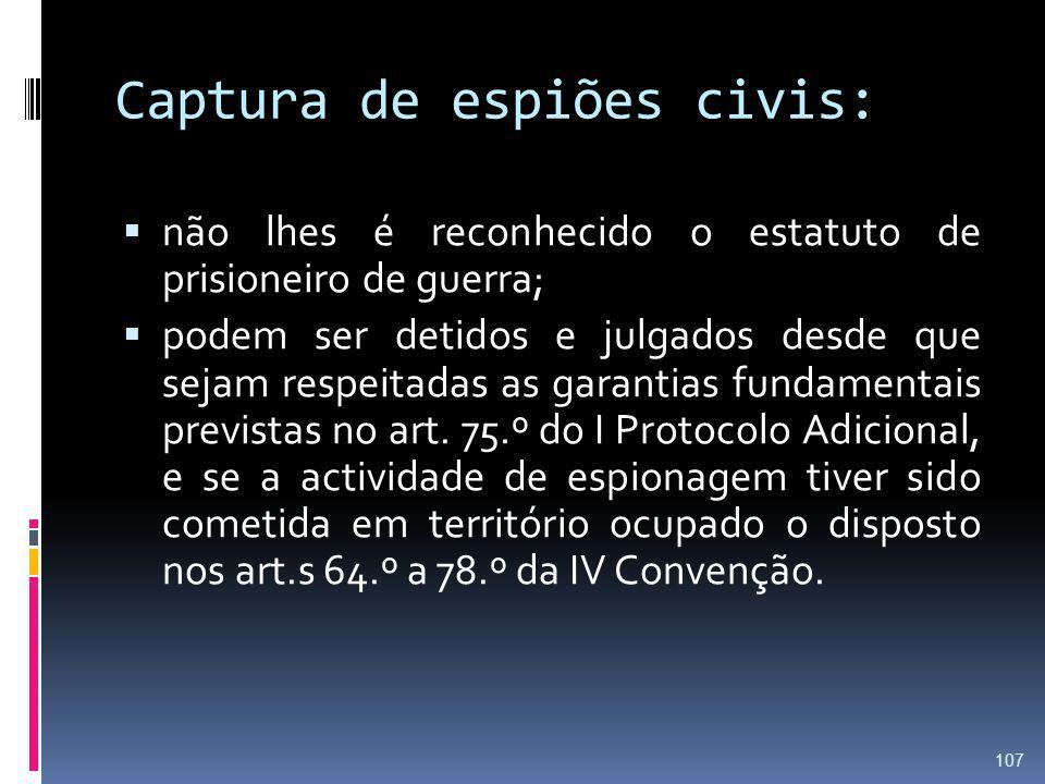 Captura de espiões civis: