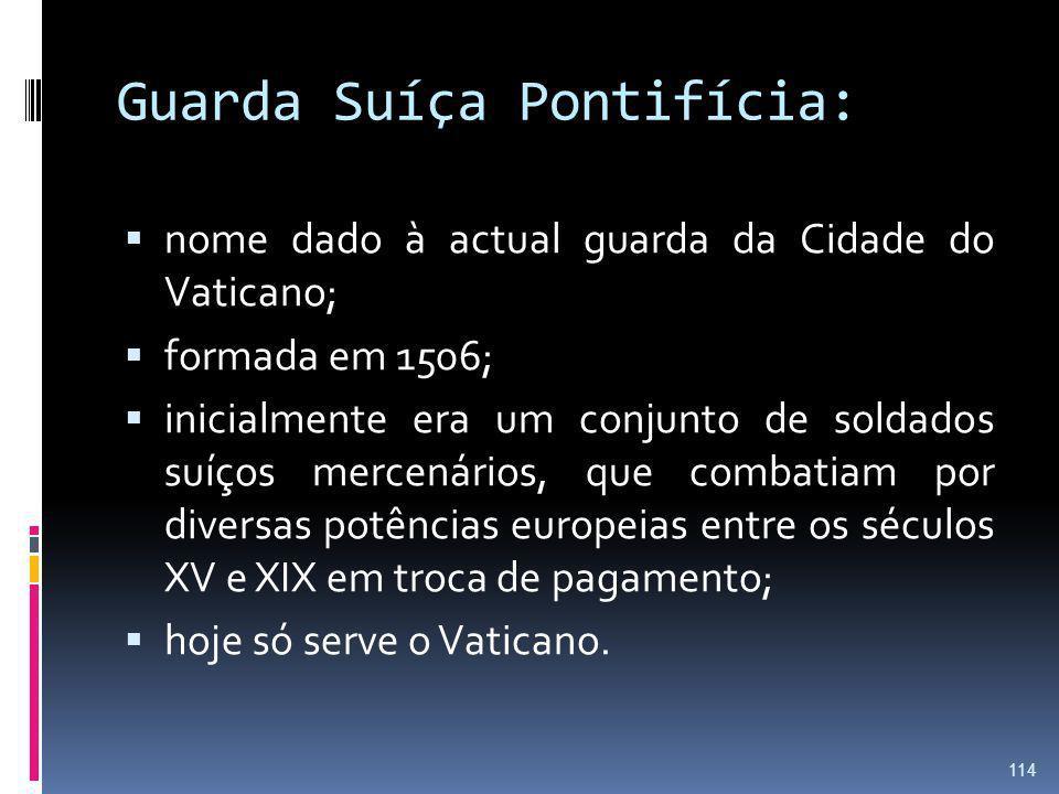 Guarda Suíça Pontifícia: