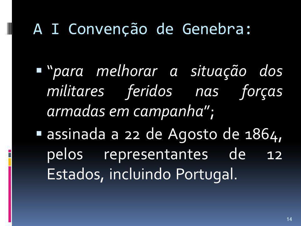 A I Convenção de Genebra: